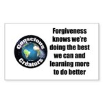 Forgiveness Knows Sticker (Rectangle)