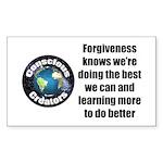 Forgiveness Knows Sticker (Rectangle 50 pk)