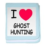 I heart ghost hunting baby blanket