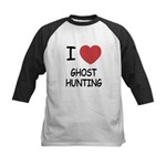 I heart ghost hunting Kids Baseball Jersey