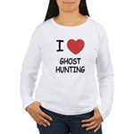 I heart ghost hunting Women's Long Sleeve T-Shirt