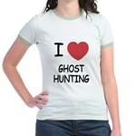 I heart ghost hunting Jr. Ringer T-Shirt