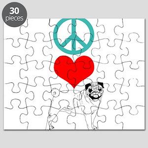Peace Love Pug Puzzle