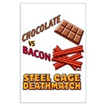 Chocolate VS Bacon Large Poster