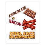 Chocolate VS Bacon Small Poster