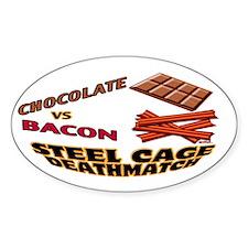 Chocolate VS Bacon Sticker (Oval)