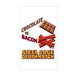 Chocolate VS Bacon Sticker (Rectangle)