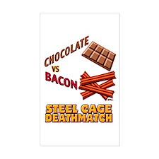 Chocolate VS Bacon Sticker (Rectangle)