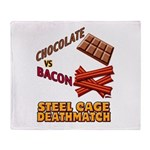 Chocolate VS Bacon Throw Blanket