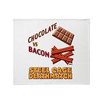 Chocolate VS Bacon Throw Blanket