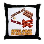 Chocolate VS Bacon Throw Pillow