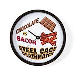 Chocolate VS Bacon Wall Clock