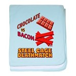 Chocolate VS Bacon baby blanket