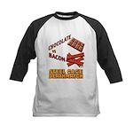 Chocolate VS Bacon Kids Baseball Jersey