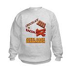 Chocolate VS Bacon Kids Sweatshirt