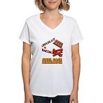 Chocolate VS Bacon Women's V-Neck T-Shirt
