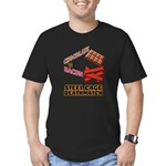 Chocolate VS Bacon Men's Fitted T-Shirt (dark)