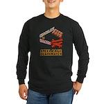 Chocolate VS Bacon Long Sleeve Dark T-Shirt