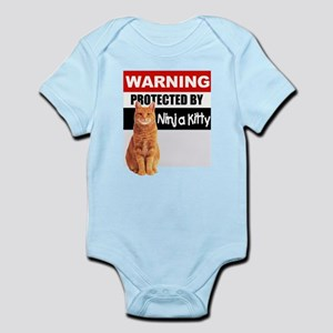 Protected by Ninja Kitty (Ora Infant Bodysuit