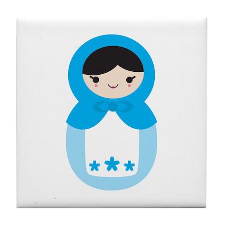 Matryoshka - Blue Tile Coaster