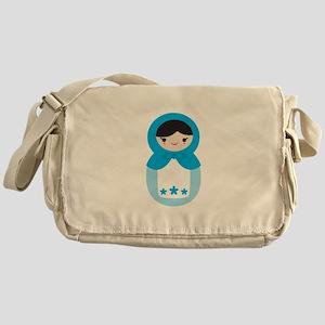 Matryoshka - Blue Messenger Bag