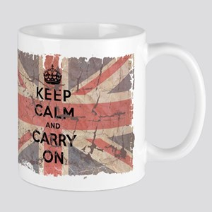 UK Flag with Keep Calm and Ca Mug