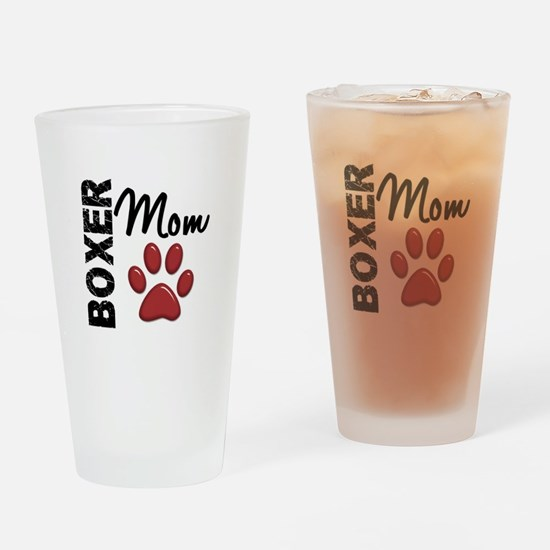 Boxer Mom 2 Drinking Glass