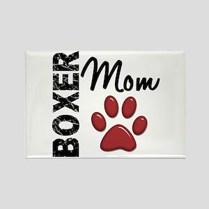 Boxer Mom 2 Rectangle Magnet