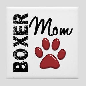 Boxer Mom 2 Tile Coaster