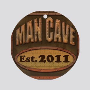 Man Cave Ornament (Round)