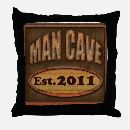 Man Cave Throw Pillow