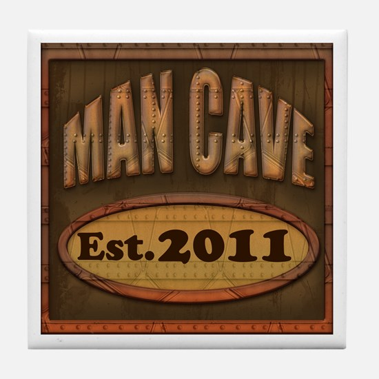 Man Cave Tile Coaster