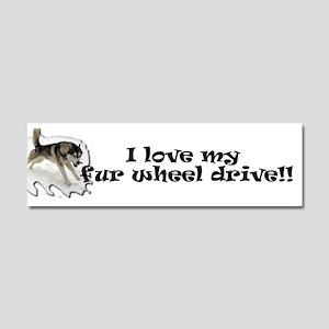I Love My Fur Wheel Drive Car Magnet 10 x 3