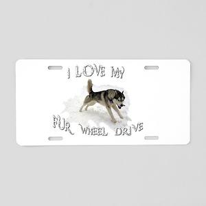 I LOVE My FUR-WHEEL Drive Aluminum License Plate