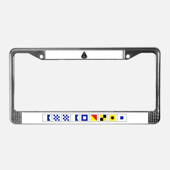 I Sail License Plate Frame, Annapolis