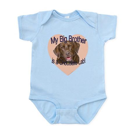 Chocolate Lab Brother Infant Bodysuit
