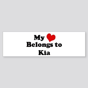 My Heart: Kia Bumper Sticker