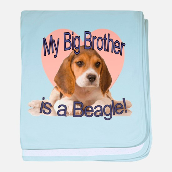 Beagle Brother baby blanket