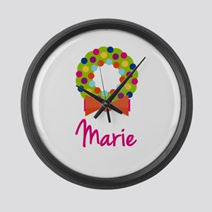 Christmas Wreath Marie Large Wall Clock