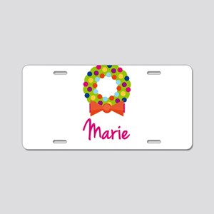 Christmas Wreath Marie Aluminum License Plate