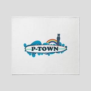 Provincetown MA - Surf Design. Throw Blanket