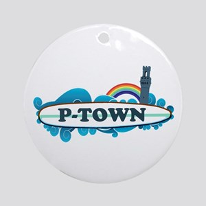Provincetown MA - Surf Design. Ornament (Round)