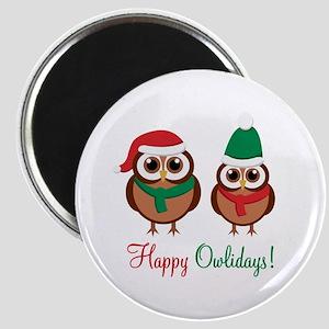 """Happy Owlidays"" Magnet"