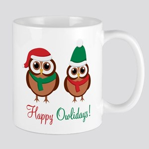 """Happy Owlidays"" Mug"