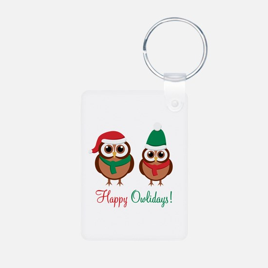 """""""Happy Owlidays"""" Keychains"""