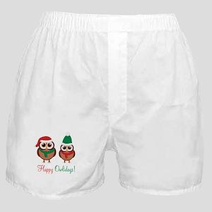 """""""Happy Owlidays"""" Boxer Shorts"""