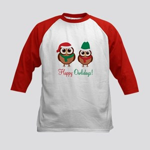 """Happy Owlidays"" Kids Baseball Jersey"