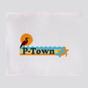 Provincetown MA - Beach Design. Throw Blanket