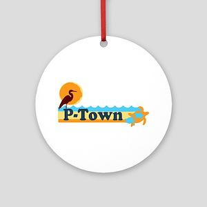 Provincetown MA - Beach Design. Ornament (Round)
