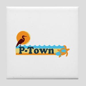 Provincetown MA - Beach Design. Tile Coaster